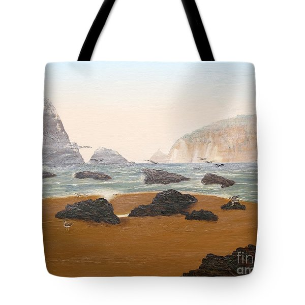 View From Luffenholtz Beach Tote Bag