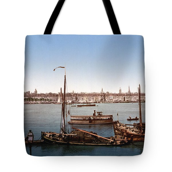View From The Bastille - Bordeaux - France Ca 1900 Tote Bag by International  Images