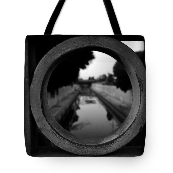 Tote Bag featuring the photograph View From The Bridge by Nina Prommer