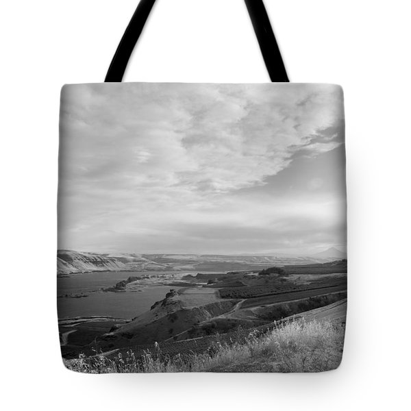 Tote Bag featuring the photograph View From The Hill Columbia River by Kathleen Grace