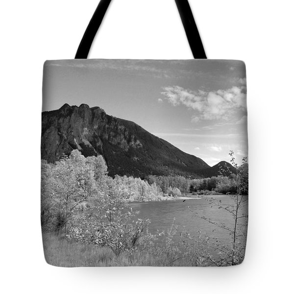 Tote Bag featuring the photograph View From The River by Kathleen Grace