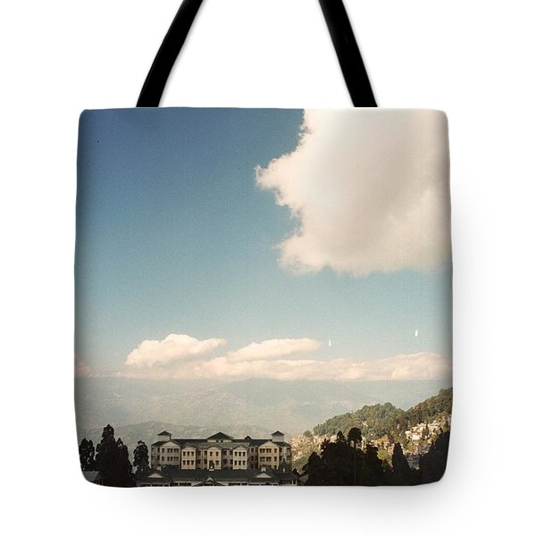 Tote Bag featuring the photograph View From The Window by Fotosas Photography