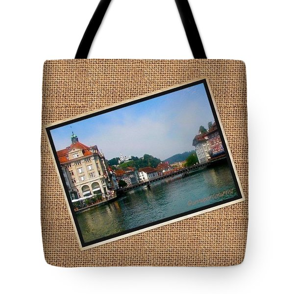 View Of Lucerne, 2001 #vacations Tote Bag