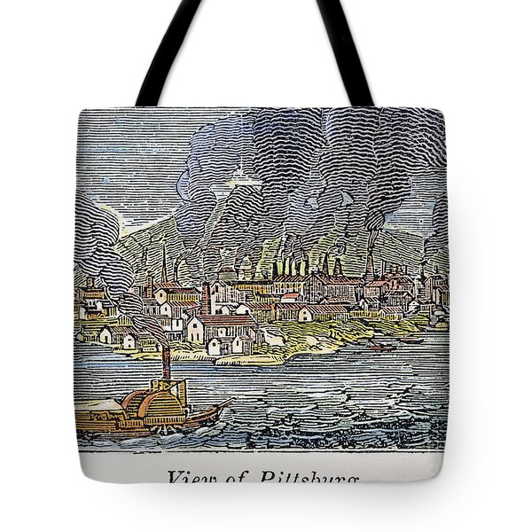 View Of Pittsburgh, 1836 Tote Bag by Granger
