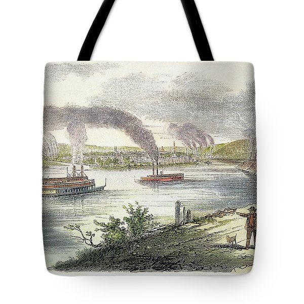 View Of Pittsburgh, 1853 Tote Bag by Granger
