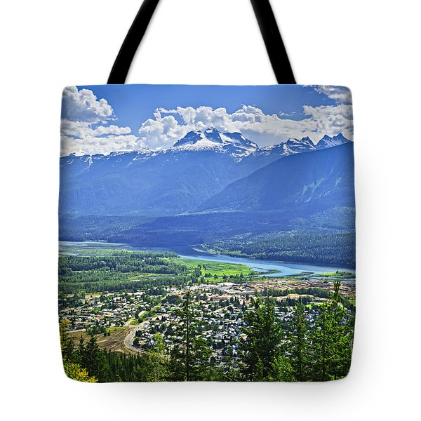 View Of Revelstoke In British Columbia Tote Bag