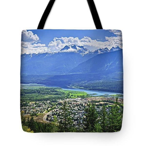 View Of Revelstoke In British Columbia Tote Bag