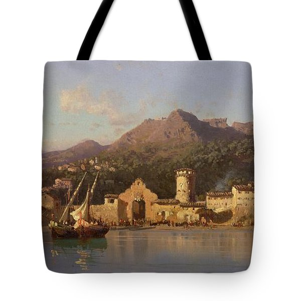 View Of Taormina Sicily Tote Bag by Alessandro la Volpe