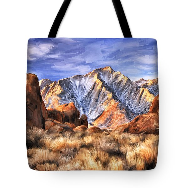 View Of The Sierras Tote Bag by Dominic Piperata