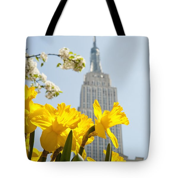 Views Of The Empire State Building And Tote Bag by Axiom Photographic