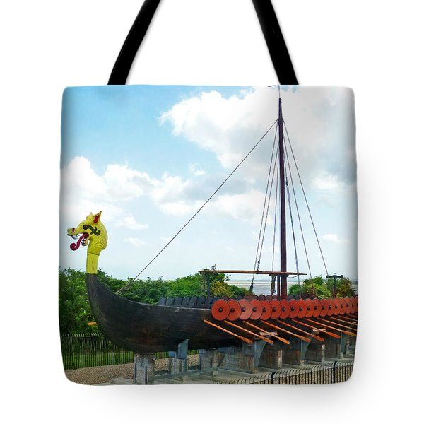 Tote Bag featuring the photograph Viking Bay In Broadstairs In England by Steve Taylor