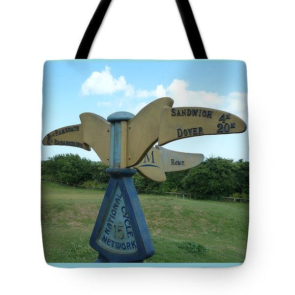 Tote Bag featuring the photograph Viking Coastal Trail From Sandwich To Reculver by Steve Taylor