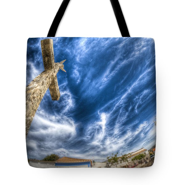 Village Cross Tote Bag by Nathan Wright