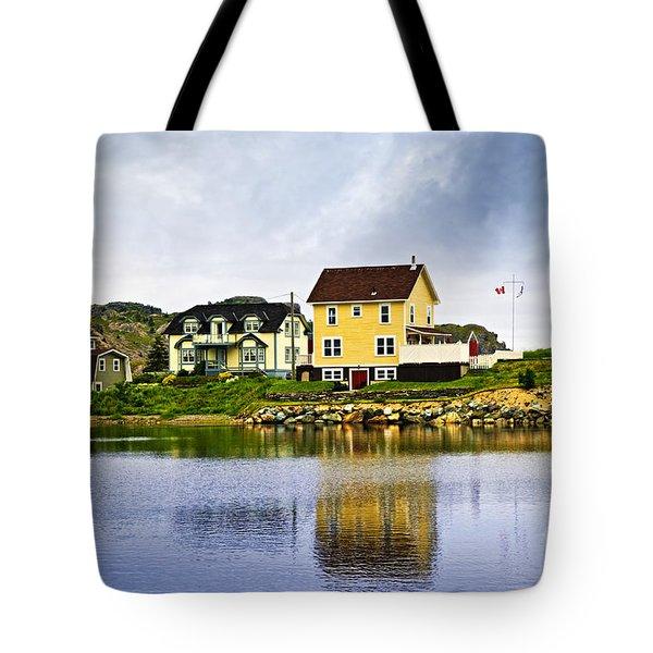 Village In Newfoundland Tote Bag
