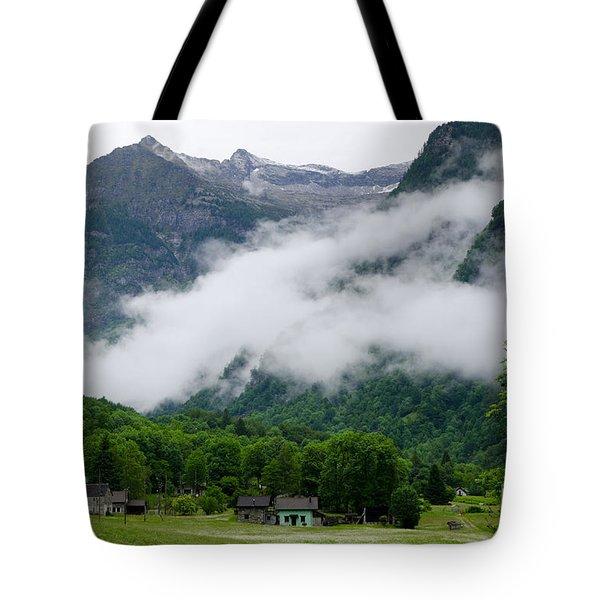 Village In The Alps Tote Bag