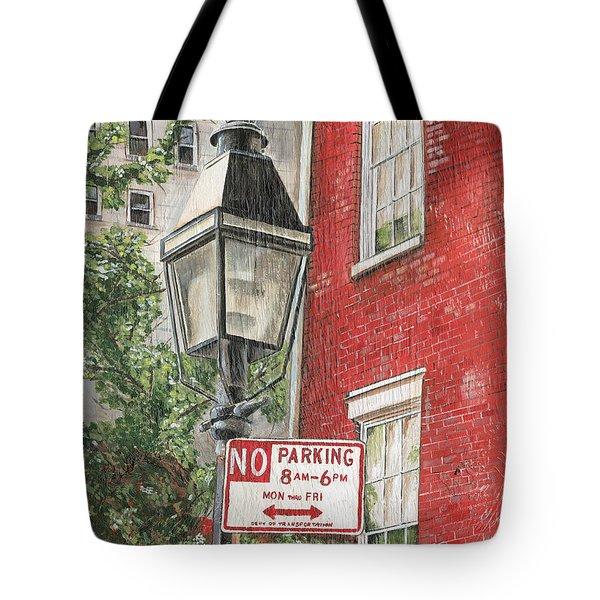 Village Lamplight Tote Bag by Debbie DeWitt
