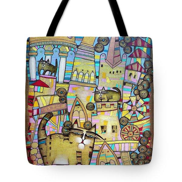 Villages Of My Childhood Tote Bag