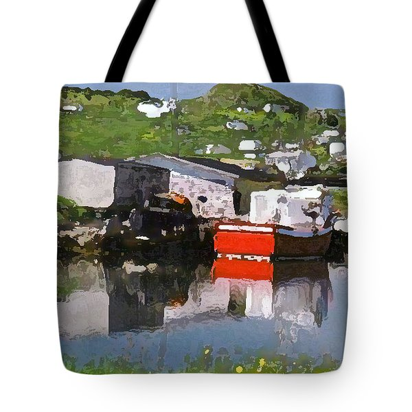 Tote Bag featuring the photograph Villiage by Lydia Holly