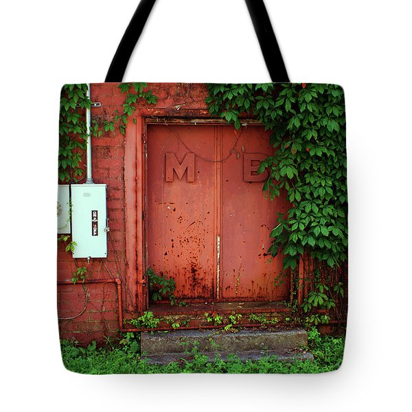 Tote Bag featuring the photograph Vines Block The Door by Paul Mashburn