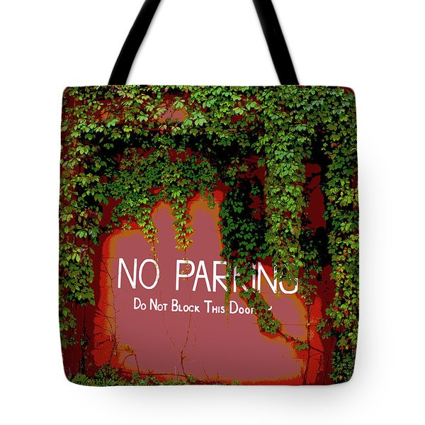 Tote Bag featuring the photograph Vines Blocking The Door by Paul Mashburn
