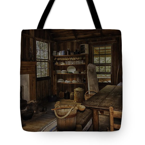 Vintage 1850s Cracker Kitchen Tote Bag by Lynn Palmer