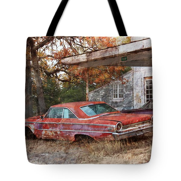 Vintage 1950 1960 Ford Galaxy Red Car Photo Tote Bag by Svetlana Novikova