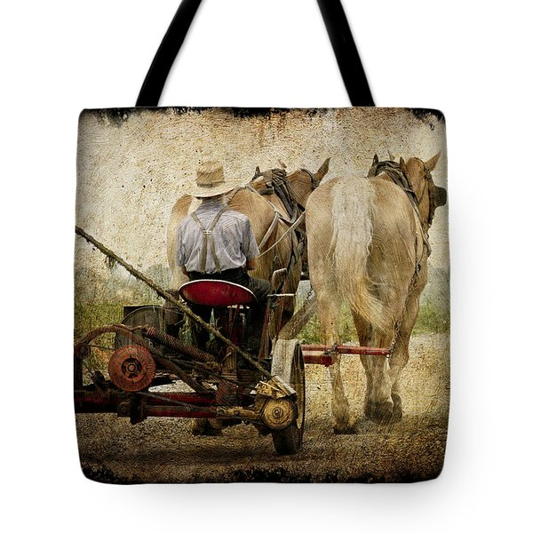 Vintage Amish Life D0064 Tote Bag by Wes and Dotty Weber