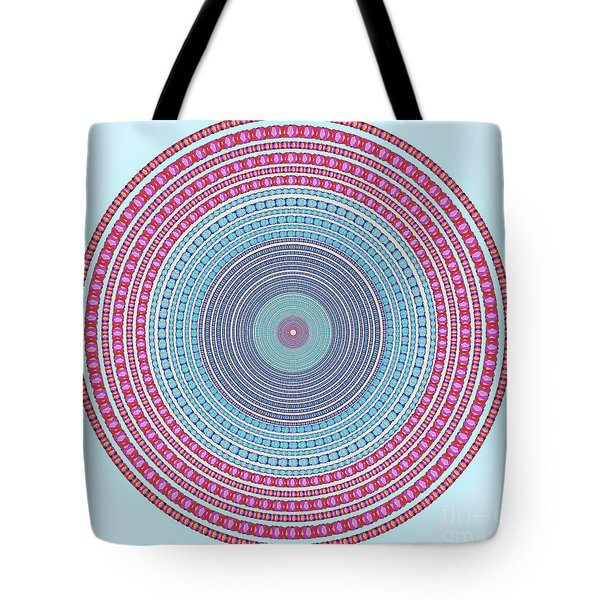 Vintage Color Circle Tote Bag by Atiketta Sangasaeng