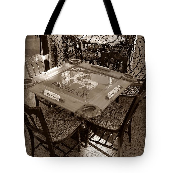 Vintage Domino Table Tote Bag by David Lee Thompson