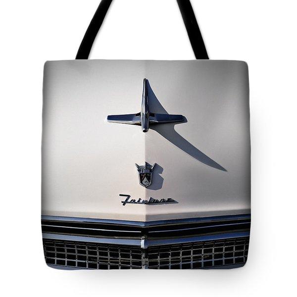 Vintage Ford Fairlane Hood Ornament Tote Bag
