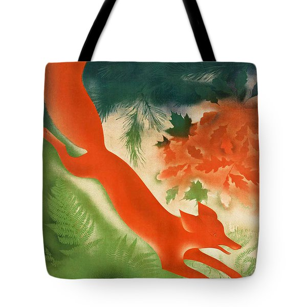 Vintage Hunting In The Ussr Travel Poster Tote Bag by George Pedro