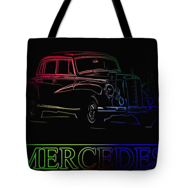 Tote Bag featuring the photograph Vintage Mercedes by George Pedro