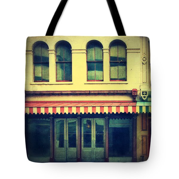 Vintage Store Fronts Tote Bag by Jill Battaglia