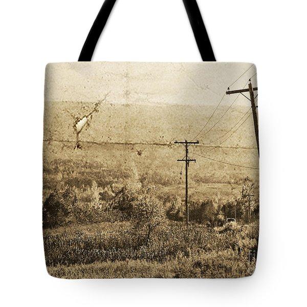 Vintage View Of Ontario Fields Tote Bag