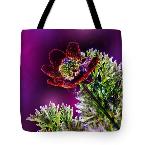 Violet Labialize Flora Tote Bag by Bill Tiepelman