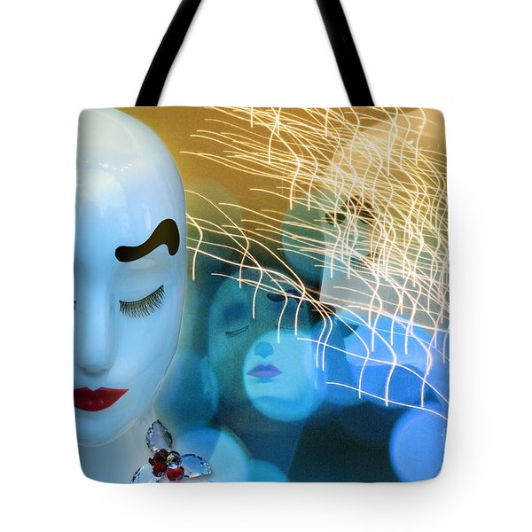 Tote Bag featuring the digital art Virginal Shyness by Rosa Cobos
