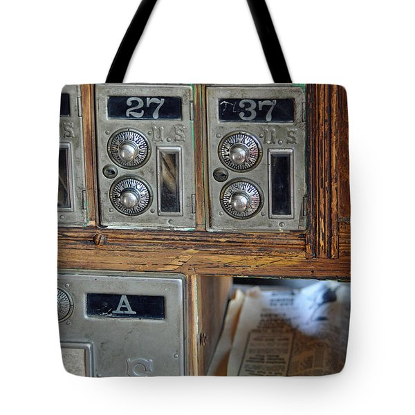 Virginia City Post Office Box Tote Bag by Bruce Gourley