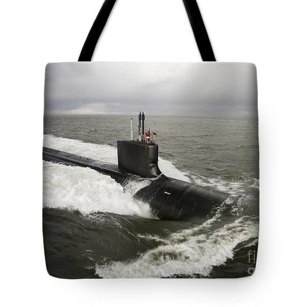 Virginia-class Attack Submarine Tote Bag