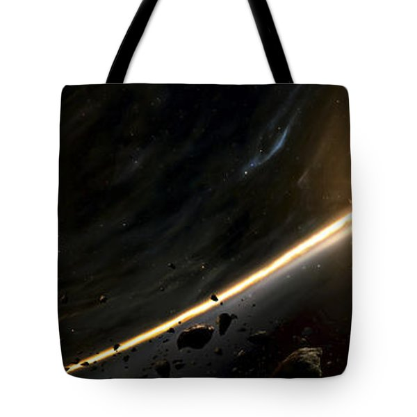 Vision Of A Black Hole Destroying A Sun Tote Bag