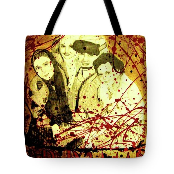 Tote Bag featuring the mixed media Visit Beautiful Ar Ramadi by Michelle Dallocchio
