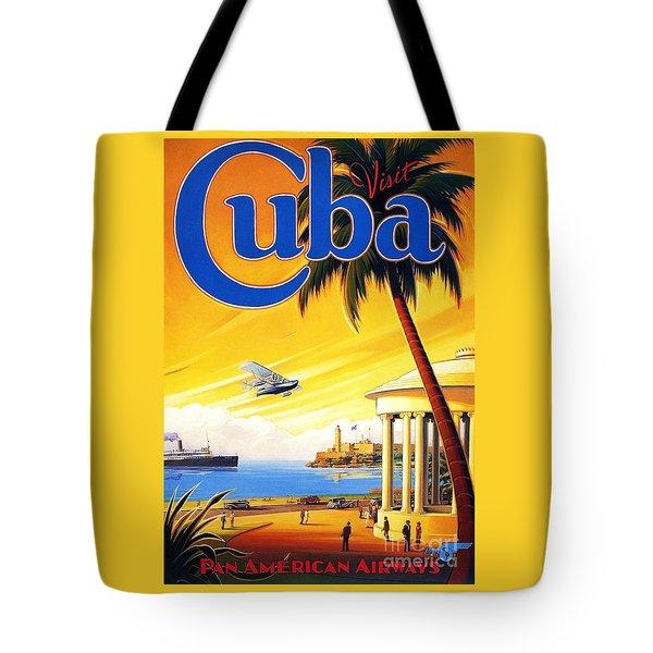 Visit Cuba Tote Bag by Reproduction
