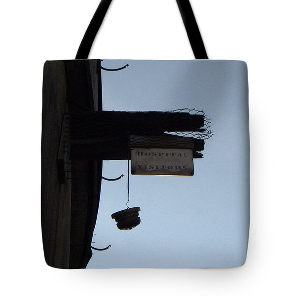 Visiting Time Is Over Tote Bag by Richard Reeve
