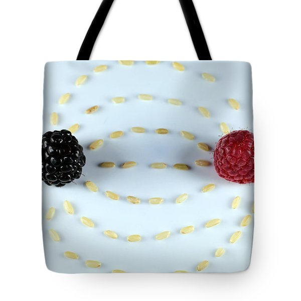 Vitalberry And Raspberry Depicting Magnetic Field Line Tote Bag
