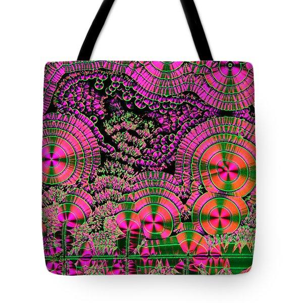 Vitamin C Crystals Spikeberg Tote Bag by M I Walker