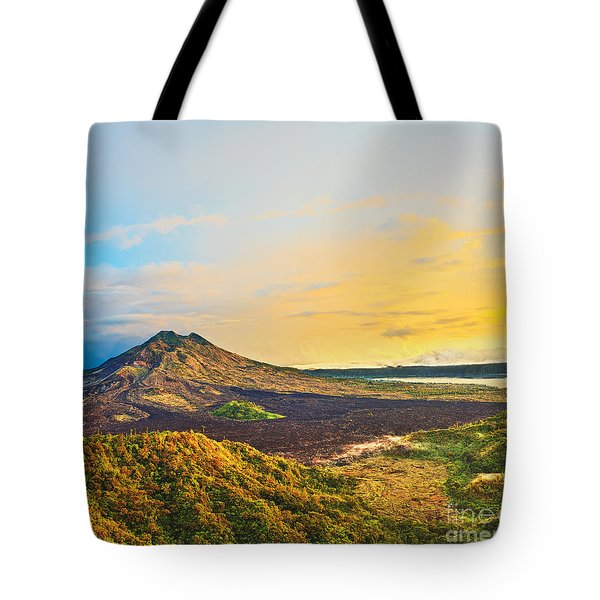 Volcano Batur Tote Bag by MotHaiBaPhoto Prints