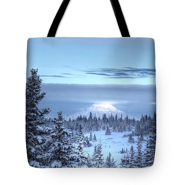 Volcano In The Clouds Tote Bag by Michele Cornelius