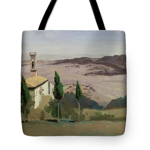 Volterra Tote Bag by Jean Baptiste Camille Corot