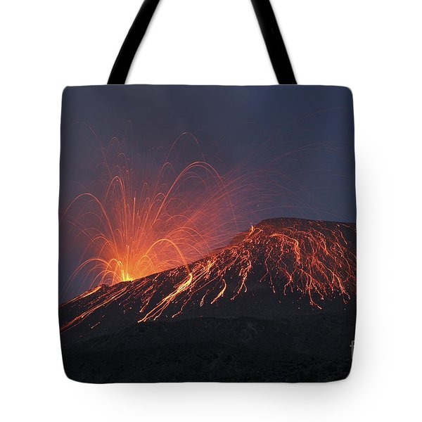 Vulcanian Eruption Of Anak Krakatau Tote Bag by Richard Roscoe