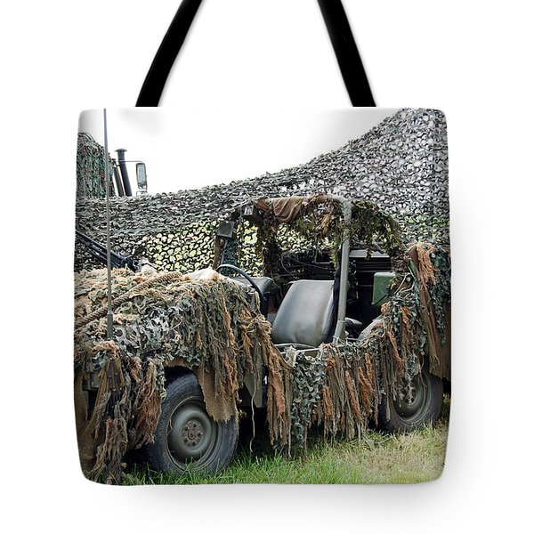 Vw Iltis Of The Special Forces Group Tote Bag by Luc De Jaeger