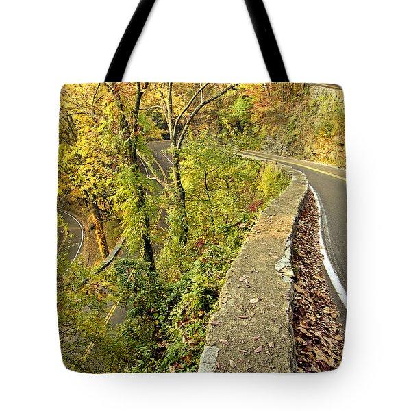 W Road In Autumn Tote Bag